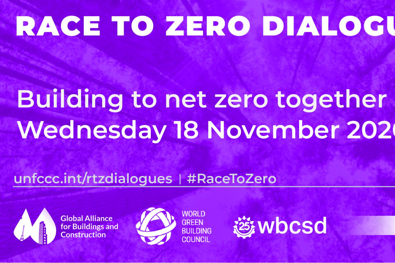 "Dialogues ""Race to zero"" : l'environnement bâti"