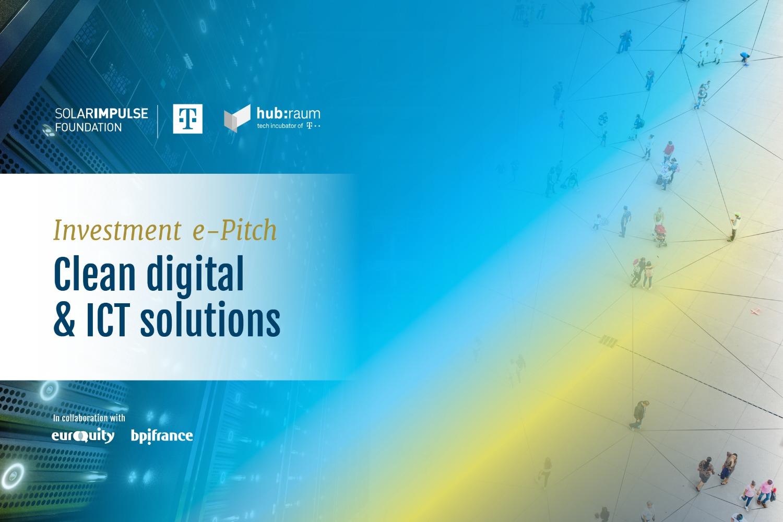 "E-Pitch ""Clean Digital and ICT"" en partenariat avec Deutsche Telekom"