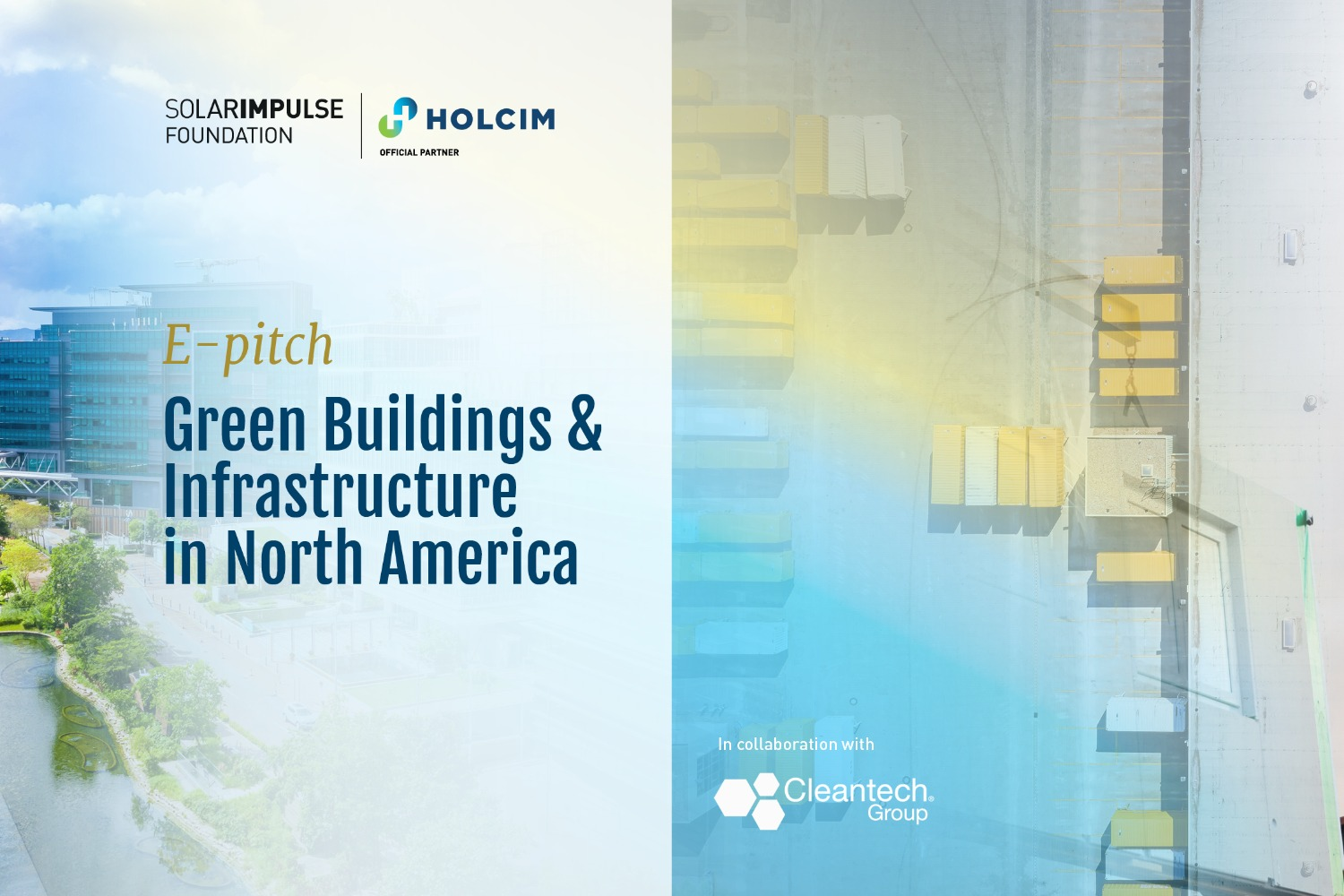 Green Buildings & Infrastructure in North America E-pitch en collaboration avec le Cleantech Group