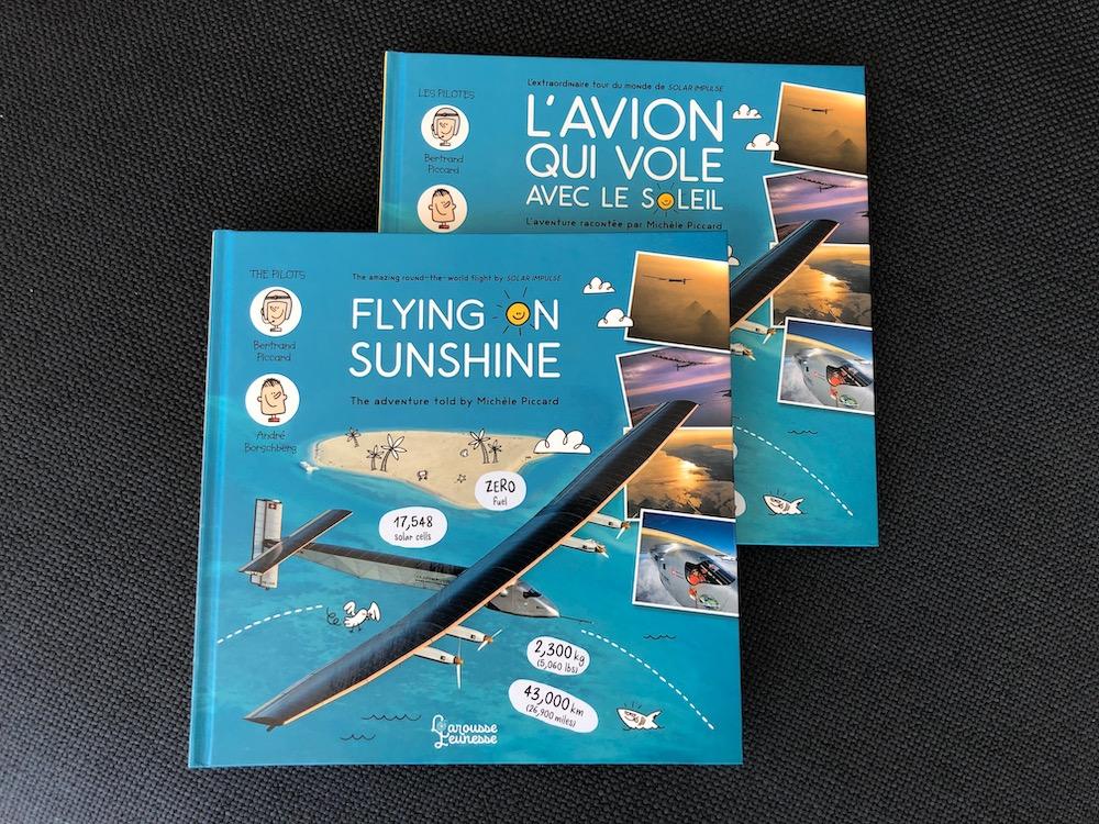l'avion qui vole grace au soleil