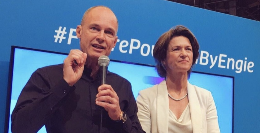 Bertrand Piccard with Isabelle Kocher
