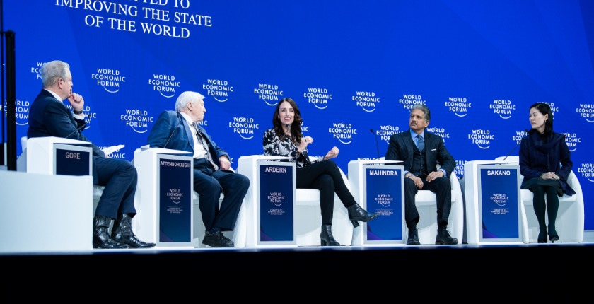 high level panel discussion at Davos 2019