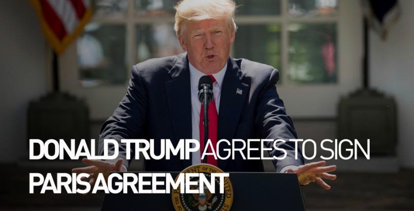 Donald Trump Paris agreement