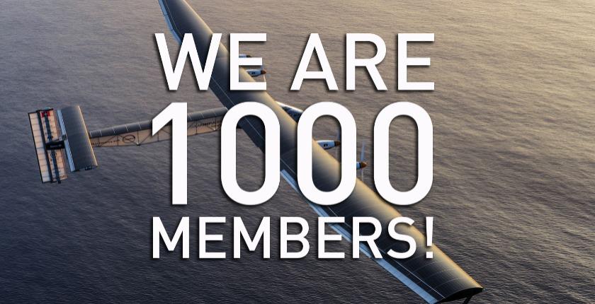 We are 1000 Members