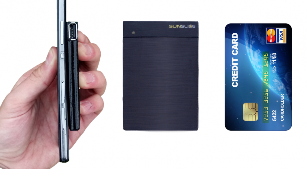 Offer Sunslice credit card sized solar charger