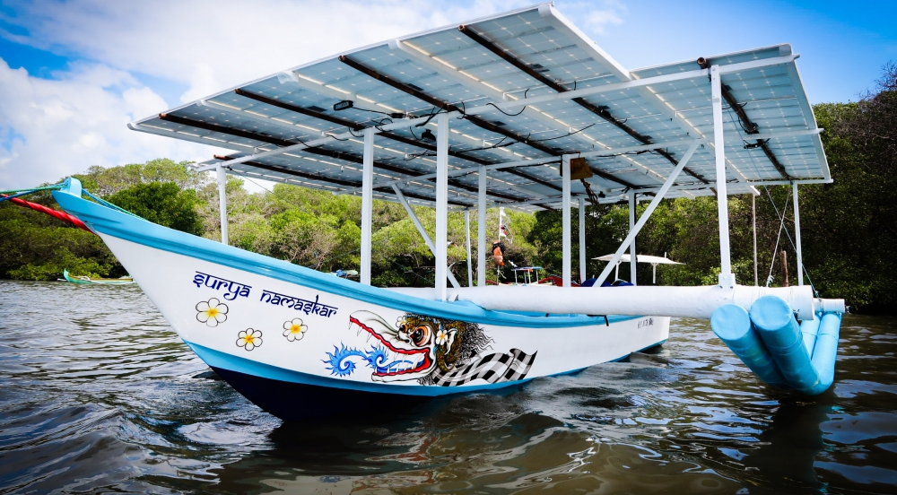Offer Surya Namaskar - Solar Electric Boat
