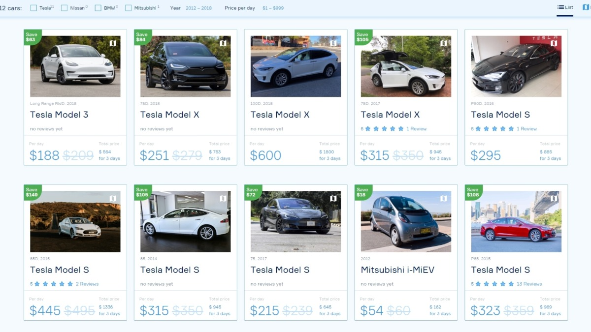 Offer Rent Electric Cars from Real People Near You