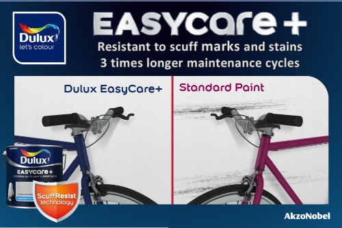 Gallery Dulux Easycare+  Scuff Resist Technology 1