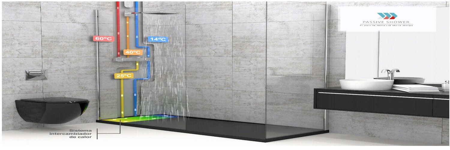 Gallery Passive Shower EcoTray 1