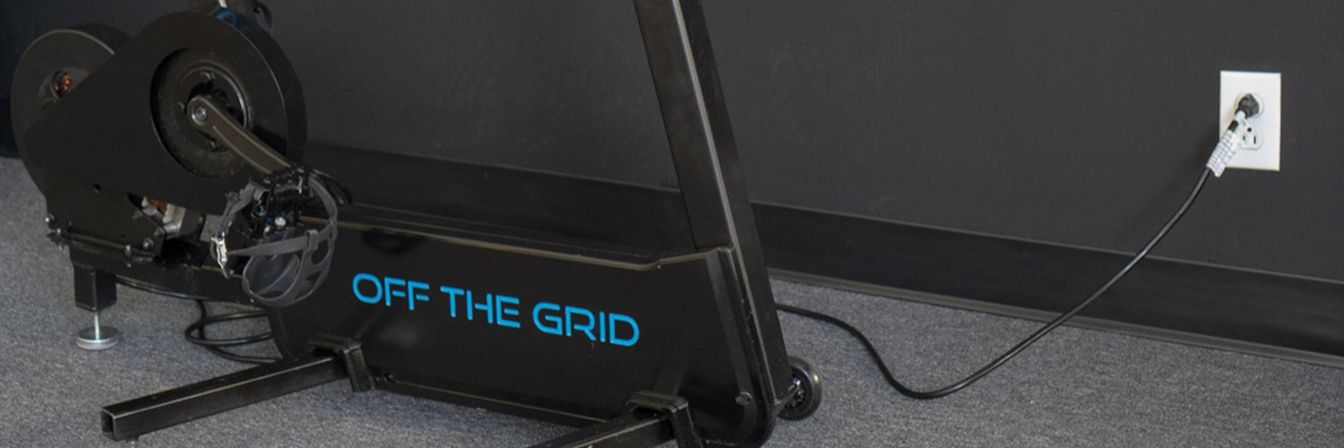 Gallery Off The Grid electricity generating spinning bike 1