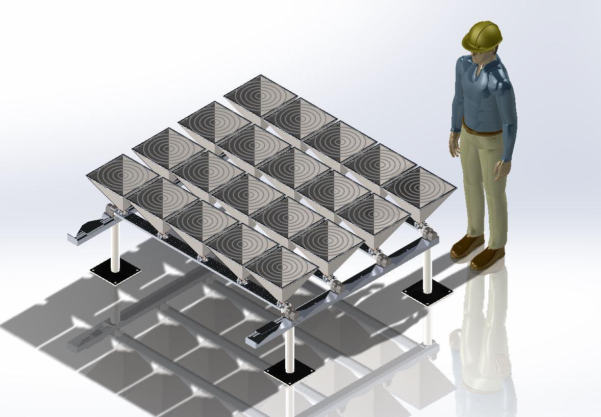 Gallery iPyramid 1 - Flat Rooftop Solar Cogeneration 2