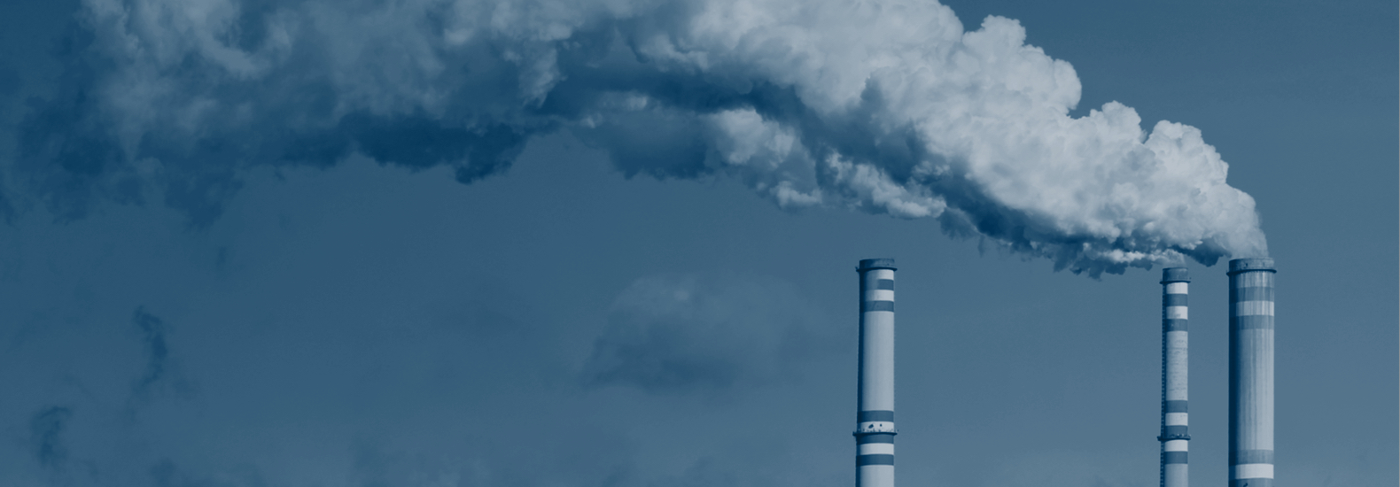 Air pollution from smokestacks